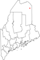 Map of Maine highlighting Caribou.png