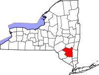 Map of New York highlighting Ulster County.svg