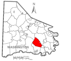 Map of North Bethlehem Township, Washington County, Pennsylvania Highlighted.png