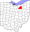State map highlighting Medina County