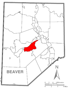 Map of Potter Township, Beaver County, Pennsylvania Highlighted.png