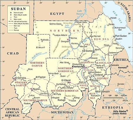 Sudan Wikipedia - Sudan map