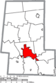 Map of Union County Ohio Highlighting Marysville City.png