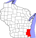 Map of Milwaukee-Racine-Waukesha Consolidated Statistical Area