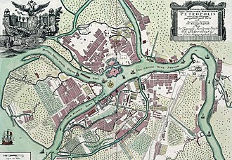 Saint Petersburg - Map of Saint Petersburg, 1744