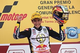 2010 Grand Prix motorcycle racing season - Image: Marc Márquez 2010 Valencia 2