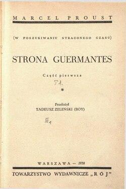 Strona Guermantesczęść Pierwszatom I Wikiźródła Wolna