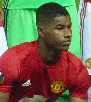 Marcus Rashford - Rashford lining up for Manchester United in 2016