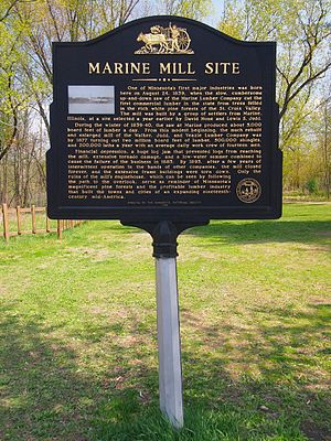 Marine Mill - The Marine Mill Site historical marker