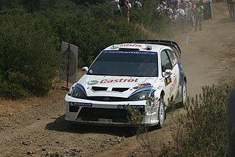 Markko Märtin - Märtin with a Ford Focus RS WRC 04 at the 2004 Cyprus Rally.
