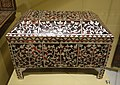 Marquetry casket, Ottoman Empire (Istanbul or North Africa), 17th-18th century, wood, tortoise shell, bone, ivory inlay - Royal Ontario Museum - DSC04772.JPG