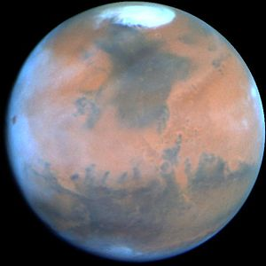 Polar ice cap - Polar ice cap on Mars, seen by the Hubble Telescope