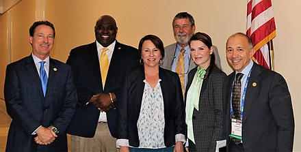 City officials from Dothan visiting Congressmember Martha Roby in 2019.