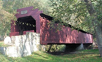 Antrim Township, Franklin County, Pennsylvania - Martin's Mill Covered Bridge over Conococheague Creek