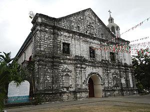 Masinloc Church - Facade of the San Andres Church in Masinloc, Zambales