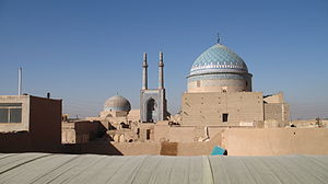 Dome - Jameh mosque of Yazd in Iran