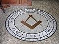 Masonic Lodge mosaic, Town, Beamish Museum, 17 May 2011.jpg