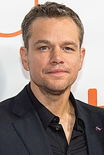 A photo of Matt Damon at the 2015 Toronto International Film Festival.