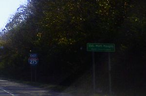 Interstate 275 (Ohio–Indiana–Kentucky) - SSGT Matt Maupin Veterans Memorial Highway in Clermont County, Ohio, near Loveland