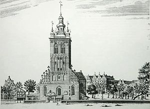 St. Catherine's Church, Gdańsk - St Catherine's in the 1770s