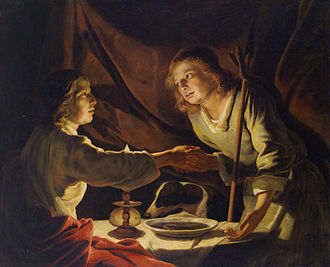 Esau - Image: Matthias Stomer (Umkreis) Das Linsengericht