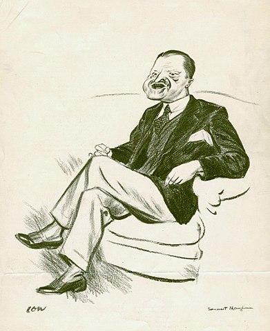 Карикатура с изображением Моэма