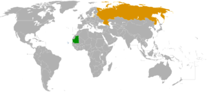 Mauritania–Russia relations - Image: Mauritania Russia Locator