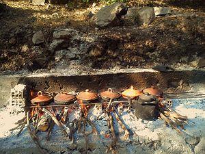 Tajine - Outdoor cooking using a tajine