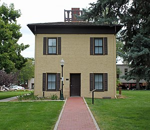 Nathan Meeker - Meeker's former home, now The Meeker Memorial Museum in Greeley, Colorado.