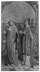 Der hl. Hieronymus und ein hl. Bischof (Ambrosius?) Außenseite: Vision des hl. Bernhard (Umkreis)