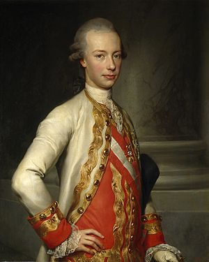 Leopold II, Holy Roman Emperor - Leopold as a young man by Anton Raphael Mengs, 1770, Madrid, Museo del Prado