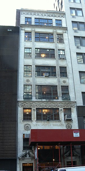New York Mercantile Library - The Center for Fiction's current headquarters at 17 East 47th Street