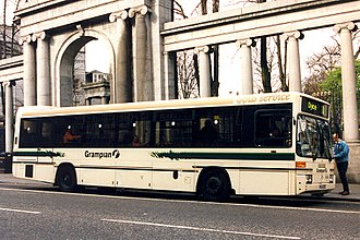 First Aberdeen - Optare Prisma bodied Mercedes-Benz O405 in Grampian Regional Transport livery in March 1998