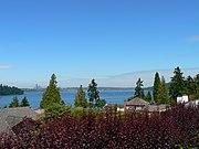View across Lake Washington towards Seattle