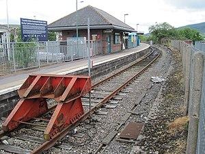 Merthyr Tydfil railway station - Merthyr Tydfil railway station.