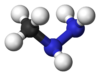 Ball and stick model of monomethylhydrazine