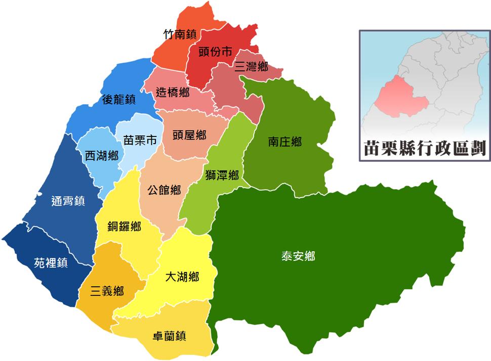 Miaoli County Map