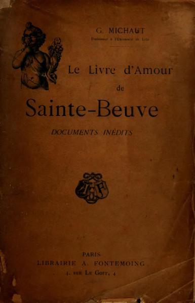 File:Michaut - Le Livre d'amour de Sainte-Beuve, 1905.djvu