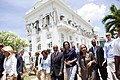 Michelle Obama 2010 Haiti earthquake National Palace.jpg