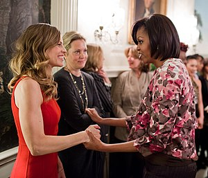 Hilary Swank - Swank and First Lady Michelle Obama in 2011