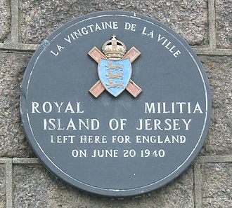 Royal Militia of the Island of Jersey - Plaque, Saint Helier Harbour