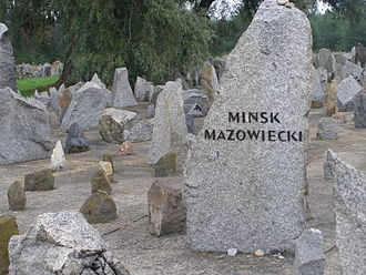 Mińsk Mazowiecki - Mińsk's stone in Treblinka extermination camp