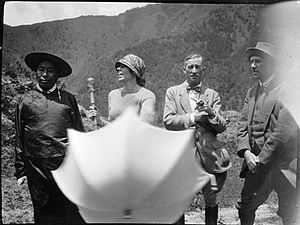 Frederick Marshman Bailey - Miru Gyalwa, Mrs Bailey, Major Vance, Colonel Bailey, 1927 in Tibet