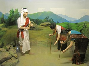 Mishing people - Diorama of Mishing people in Jawaharlal Nehru Museum, Itanagar