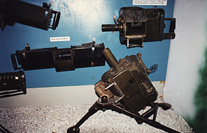 Mk 18 Mod 0 grenade launchers (right and on tripod) at the War Remnants Museum (Ho Chi Minh City)