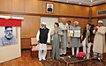 Mohd. Hamid Ansari releasing a commemorative postage stamp in honour of Maulana Hasrat Mohani, a freedom fighter, at a function, in New Delhi. The Union Minister for New and Renewable Energy.jpg