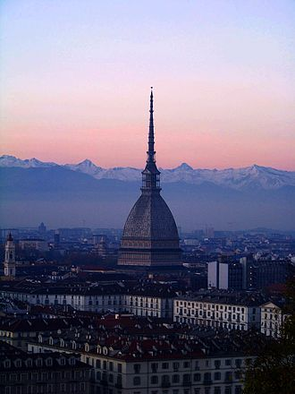 2006 Winter Olympics - Mole Antonelliana in Turin.