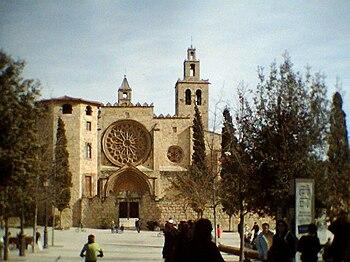 Fachada del monsterio de Sant Cugat