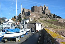 Mont Orgueil is in the parish