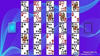Monte Carlo (solitaire) - Image: Monte Carlo (solitaire) Layout
